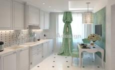 Проект 3х комнатной квартиры 100 кв.м.с элементами Ар Деко