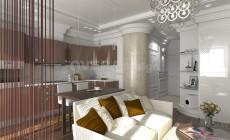Квартира студия в стиле эклектика