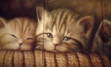 """Полиптих на холсте """"котята"""""""