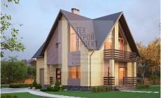 Красивый загородный дом в классическом исполнении