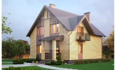 Проект компактного дома для загородного проживания