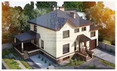 Проект большого двухэтажного дома с цокольным этаж