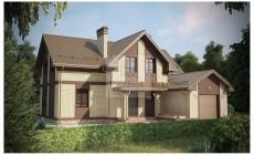 Двухэтажный дом для загородного проживания