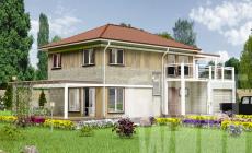 Двухэтажный дом 10 х 7 м, 232 кв. м. с гаражом