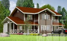 Двухэтажный дом 15 х 10 м, 255 кв. м.