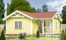 Одноэтажный дом 7,5 х 7 м, 48 кв. м.