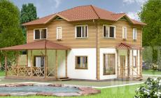 Двухэтажный дом 10 х 8 м, 182 кв. м.