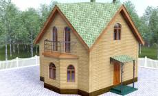 Проект гостевого дома с баней 64 кв.м / Арт. Cу-71