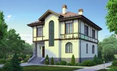 Проект кирпичного дома 38-81