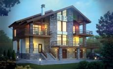 Проект кирпичного дома 38-82