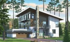 Проект кирпичного дома 38-83