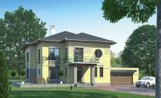 Проект кирпичного дома 38-84