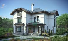 Проект кирпичного дома 38-87