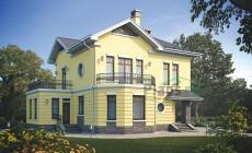 Проект кирпичного дома 38-89