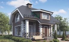 Проект кирпичного дома 38-90