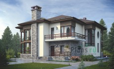 Проект кирпичного дома 38-95