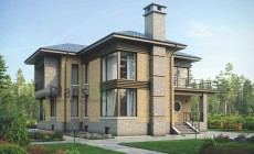 Проект кирпичного дома 39-33