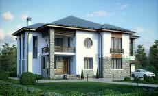 Проект кирпичного дома 39-76