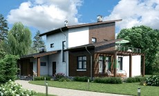 Проект кирпичного дома 39-79