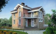 Проект кирпичного дома 39-85