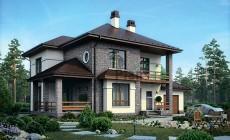 Проект кирпичного дома 39-87