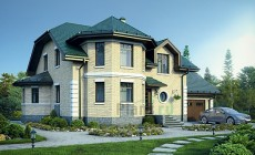 Проект кирпичного дома 39-88