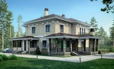 Проект кирпичного дома 39-90