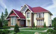 Проект кирпичного дома 40-01
