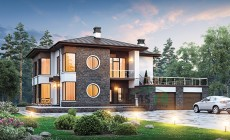 Проект кирпичного дома 40-03