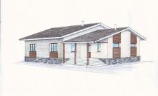 Эскизный проект одноэтажного дома