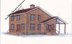 Готовый проект уютного двухэтажного жилого дома