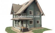 Проект дома из бревна 9 х 9.5 м