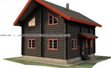 Деревянный дом из лафета 8 х 9 м
