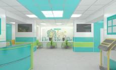 Дизайн интерьера холла детской больницы.