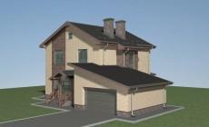Проект дома с гаражом из теплой керамики Л-02-24/а