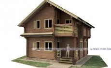 Дом из профилированного бруса до 100 кв. м