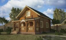 Дом-баня 90.11 м2 6.2х9.05 по проекту УЮТНАЯ