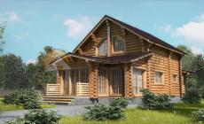 Дом 155.95 м2 10.5х15.3 по проекту АЗАТСКИЙ