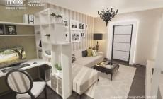 Небольшая гостиная в стиле арт-деко