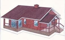 Проект одноэтажного дома Общая площадь: 139,0 м2