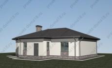 Проект одноэтажного дома Б-05-16/а