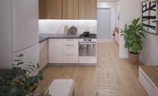 Визуализация проекта квартиры-студии