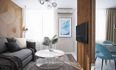 3Д визуализация квартиры 33 кв. м.