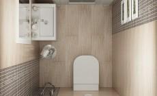 Маленький туалет с раковиной