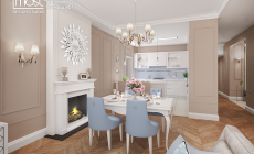 Гостиная - столовая - кухня просторно и элегантно