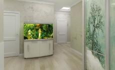 Прихожая с аквариумом