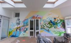 Художественная роспись в загородном доме