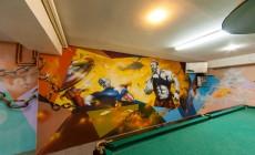 Роспись стен (граффити оформление) в спортивном клубе