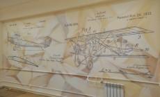 Оформление стен в офисе производственной компании