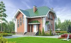 Проект кирпичного дома 40-13